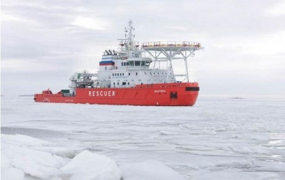 """Baltika"", the first asymmetric icebreaker in the world, completed the trials in the Arctic"